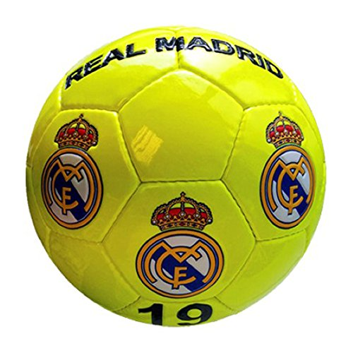 Real Madrid - Gran de balón de fútbol de amarillo neón Real Madrid ...