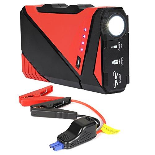 NexGadget Auto Starthilfe 400A Spitzenstrom 12000mAh Autobatterie Tragbarer Externer Akku Ladegerät Powerbank mit LED Taschenlampe für Fahrzeug, Ipad, Smartphone und Andere Mobilgeräte