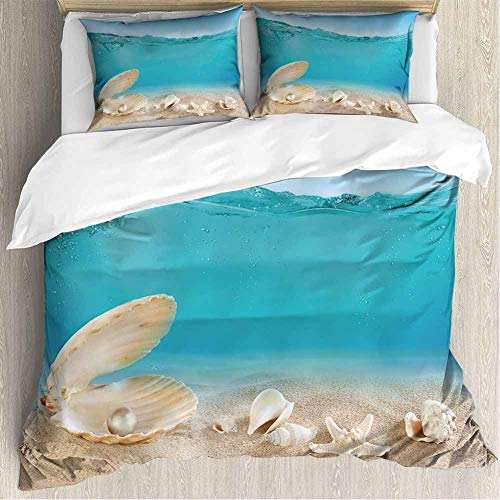 shirlyhome Super Soft Breathable Bedding Pearl Underwater Home Fashions Queen