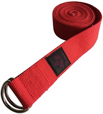 """Clever Yoga Strap 8FT or 10FT Made With The Best, Durable Cotton - Comes With Our Special """"Namaste"""" (7 Colors)"""
