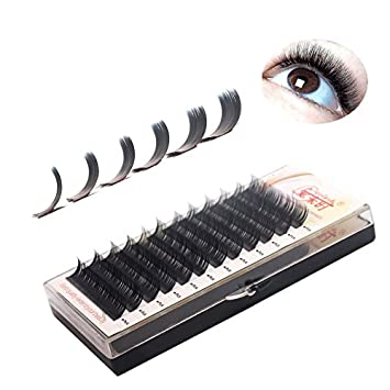 7db5a7547cb Amazon.com : THINKSHOW 4 Trays Eyelash Extensions 0.20mm C/D Curl 8 ...