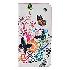 Butterfly Pattern Full Body Leather Tpu Case for iPhone 5/5S