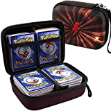 Cards Holder Compatible with PM TCG Card,Exploding Kittens Card Games,C.A.H..Card Binder Fits Up to 400 Cards.Trading Cards Storage Box with 2 Removable Dividers.(Light)