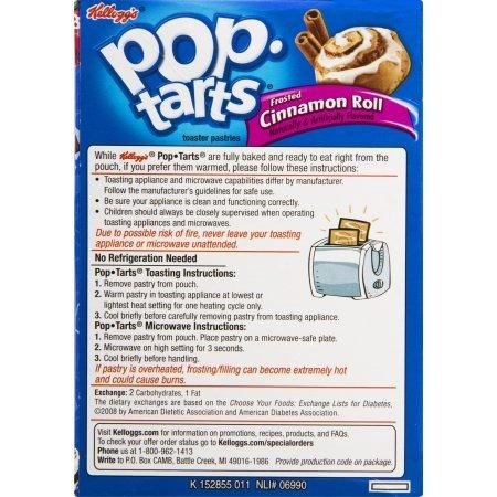 Kelloggs Pop-Tarts Cinnamon Roll, 8 ct, 14.1 oz (Pack of 4) by Kellogg's (Image #2)