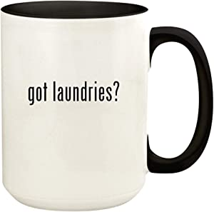 got laundries? - 15oz Ceramic Colored Handle and Inside Coffee Mug Cup, Black