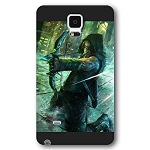 UniqueBox Green Arrow Custom Phone Case for Samsung Galaxy Note 4, DC comics Green Arrow Customized Samsung Galaxy Note 4 Case, Only Fit for Samsung Galaxy Note 4 (Black Frosted Shell)
