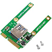 HibiscusElla Green 51 * 29 * 7mm(L*W*H) 4g Mini PCI-E Card Slot Expansion to USB 2.0 Interface Adapter Riser Card Eletronic Compatible with USB1.1