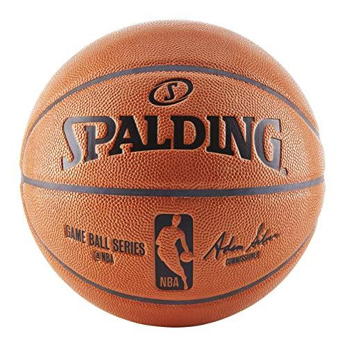Spalding NBA Replica Indoor/Outdoor Game Ball, Orange, Size 7/29.5-Inch - Spalding Heat Miami