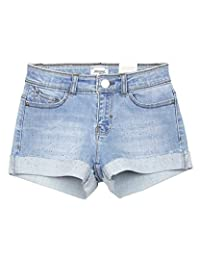 Mayoral Junior Girl's Cuffed Denim Shorts, Sizes 8-18