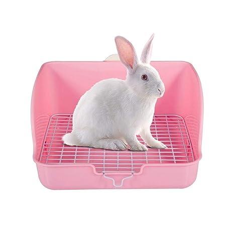 AYWJ9609 Caja de Arena de Conejo, Conejo IR al baño con la Rejilla ...