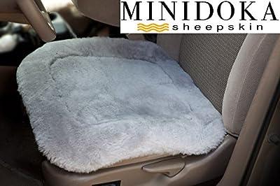 Desert Breeze Distributing Australian Sheepskin Seat Pad, Thick Short Wool, Natural Leather for Premium Fit, Non-Slip Backing, Minidoka Sheepskin