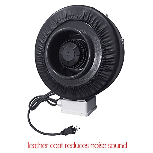 Inline Duct Vents : Inch inline duct fan ventilation blower for hydroponics