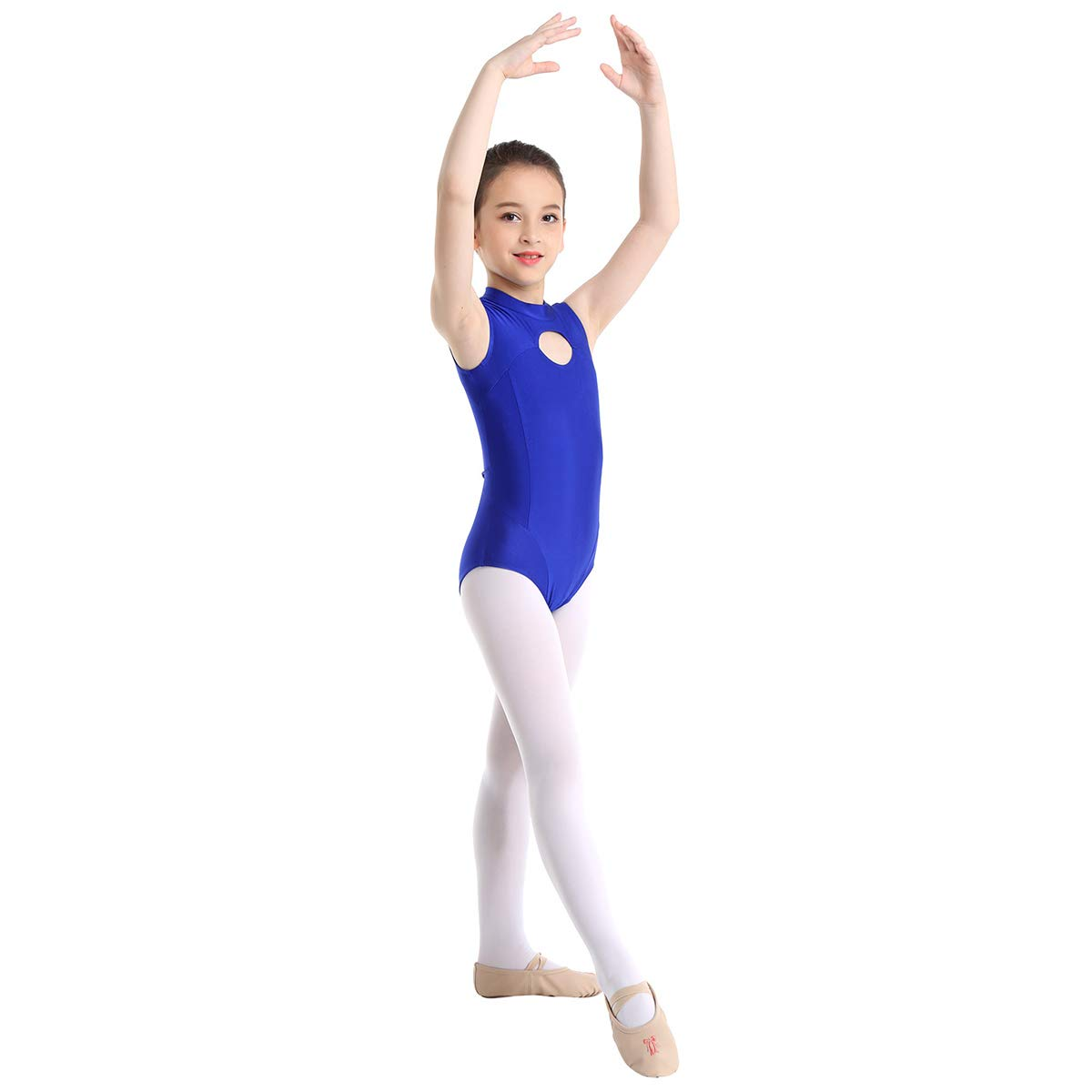 iixpin Maillot Ballet Espalda Abierta Niña Leotardo de ...