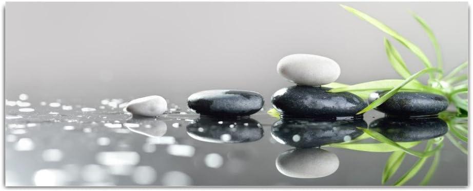 Cristal imágenes Cristal Piedras Hierba–cuadro de 125x 50cm Float