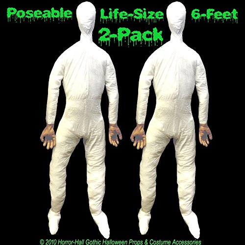 2-PC-Life Size Body-STUFFED POSEABLE DUMMY-Halloween Haunted House Holiday Props