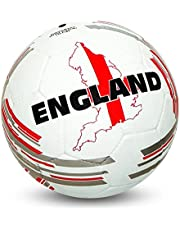 NIVIA COUNTRY COLOR MOLDED FOOTBALL SIZE 5 - ENGLAND (White/Red)