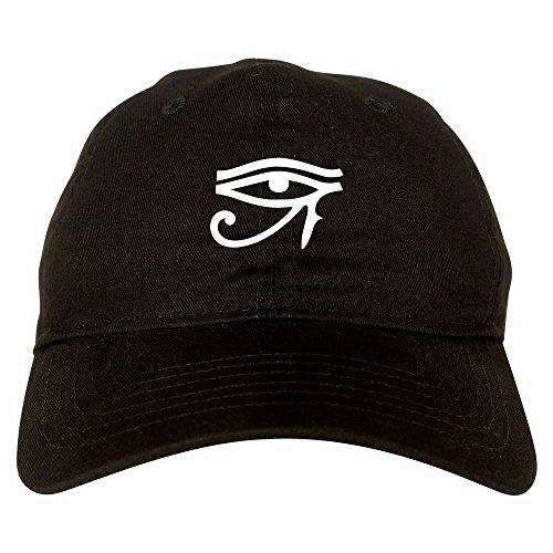 Kings Of NY Eye of Horus Egyptian 6 Panel Dad Hat Cap Black