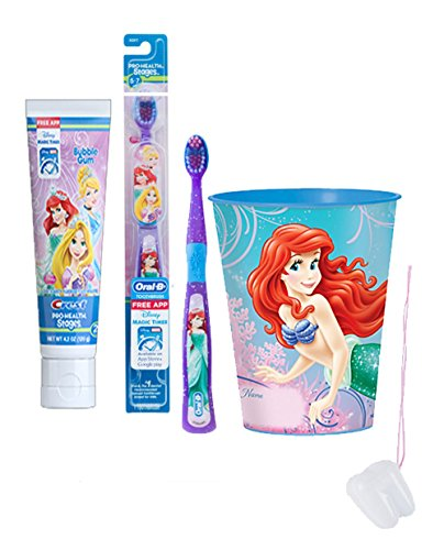 disney-princess-ariel-inspired-3pc-bright-smile-oral-hygiene-set-includes-soft-manual-toothbrush-too