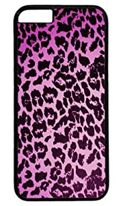 Leopard Pink Print DIY Hard Shell Black iphone 6 plus Case Perfect By Custom Service