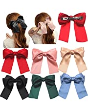 Lazo oversize suave y sedoso para pelo estilo Lolita de 14 cm para niña y mujer con broche francés