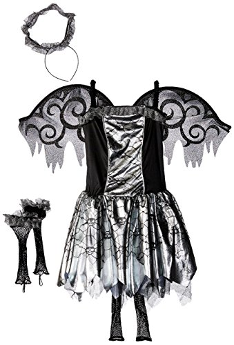 Amscan Stunning Costume Fallen Angel X-Large (14-16) Party Needs 5 Ct Childrens Supplies, (Fallen Angel Wings And Halo)