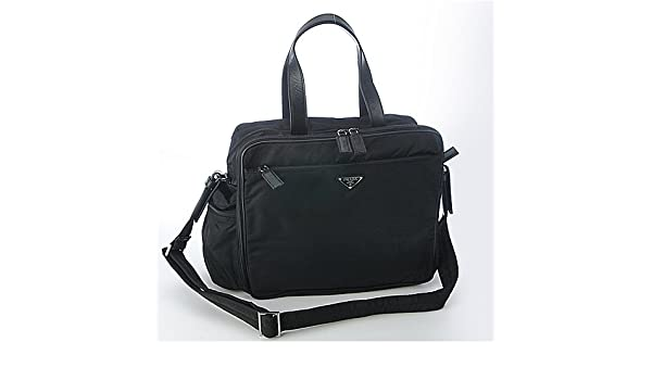 0231775ceeae Amazon.com  Prada Diaper Bag Vs059S - Black  Baby