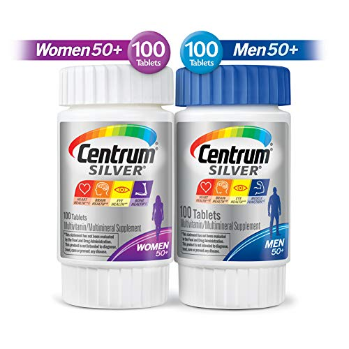 Centrum Silver Centrum Silver Men & Women Multi-Pack Multivitamn, Age 50+ (200 Count in Total), Multi-Colored