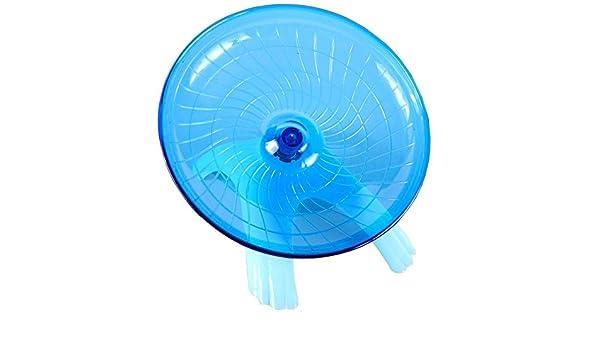 Ogquaton 1 Unids Hamster Wheel Creative Pet Flying Saucer Rueda de Ejercicio Animal peque/ño Corriendo Juguete para h/ámster Chinchillas Azul