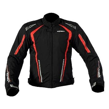 R-TECH Chaqueta Textil Para Hombre Marshal CE Aprobado (XL, Negro/Rojo): Amazon.es: Coche y moto