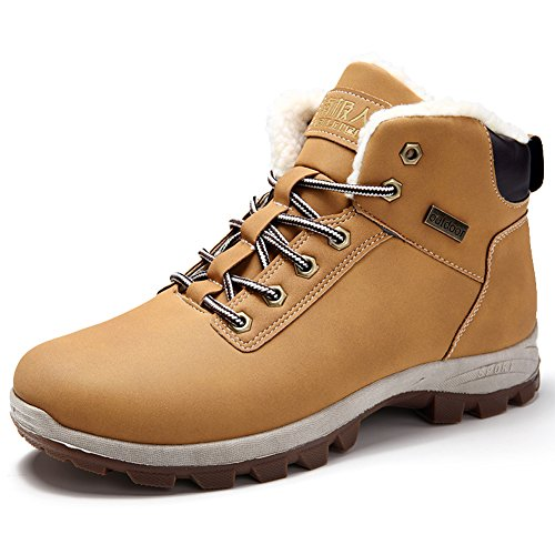 lining Warm Men with Shoes Boots Ankle Winter Brown Sneaker Hiking GOMNEAR Velvet Snow Top Light Casual High UqwT1