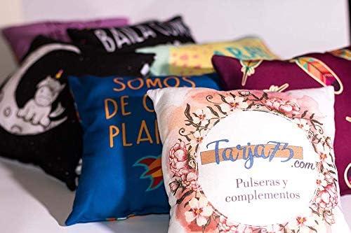 Tama/ño 38x38 cm Tejido Tacto algod/ón Cojines Personalizados Con foto y texto Tarja 73 Relleno Incluido