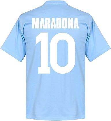 Neapel Maradona 10 Team - Camiseta para niño, color azul claro azul celeste 2 Años: Amazon.es: Deportes y aire libre