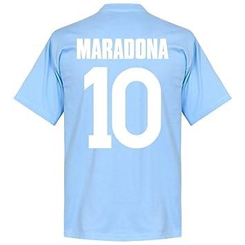 Retake Napoli Maradona 10 Team - Camiseta de Manga Corta, Color ...