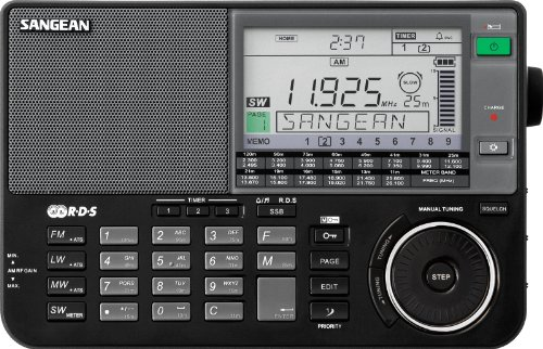 Sangean ATS-909X BK AM/FM/LW/SW World Band Receiver - Black (Best Cheap Shortwave Radio)