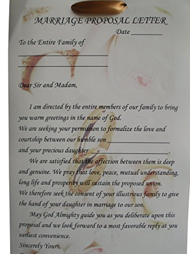 marriage proposal letter traditional yoruba wedding engagement letter 13407 | 51Ejog8AyFL