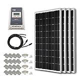 HQST 400 Watt 12 Volt Monocrystalline Solar Panel Kit with...