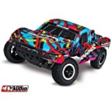 Traxxas (HRP 1 10-Scale 2WD Short Course Racing Truck with TQ 2.4GHz Radio System Radio Control Truck - Hawaiian