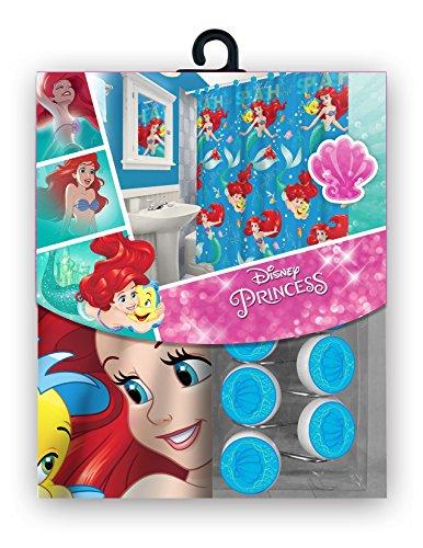 [해외]12 개의 매칭 후크가있는 새로운 패브릭 샤워 커튼 세트 디즈니/All New Fabric Shower Curtain Set Disney with 12 Matching Hooks