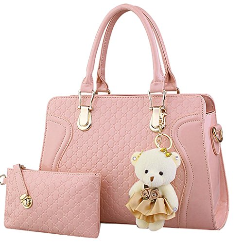 Flying Birds Collision color Hit color portable shoulder Messenger Bag ZCBG94 (All Pink)