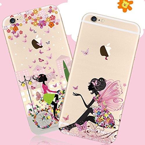 Funda iPhone 6 Carcasa, iPhone 6S Funda Case, Bonice [fusión} Suave TPU Silicona Premium Ultra Delgado Rubber Transparente Arte Diseño Creativo Gato Patrón Completo Funda Anti-rayas for iPhone 6 6S 4. Modelo19