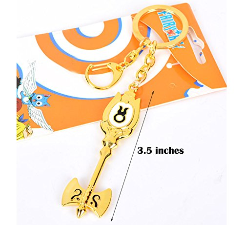 Dreamcosplay Fairy Tail Taurus Logo Pendant KeyChain Key Chain Cosplay ()