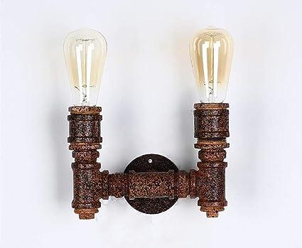 Xin lampada da parete retrò loft light rusty barrel bar ristorante