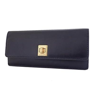 4f84df9a77b2 マイケルコース 長財布 レザー ターンロック Natalie Leather Wallet 32F6ANEE5L ネイビー系 MK [並行
