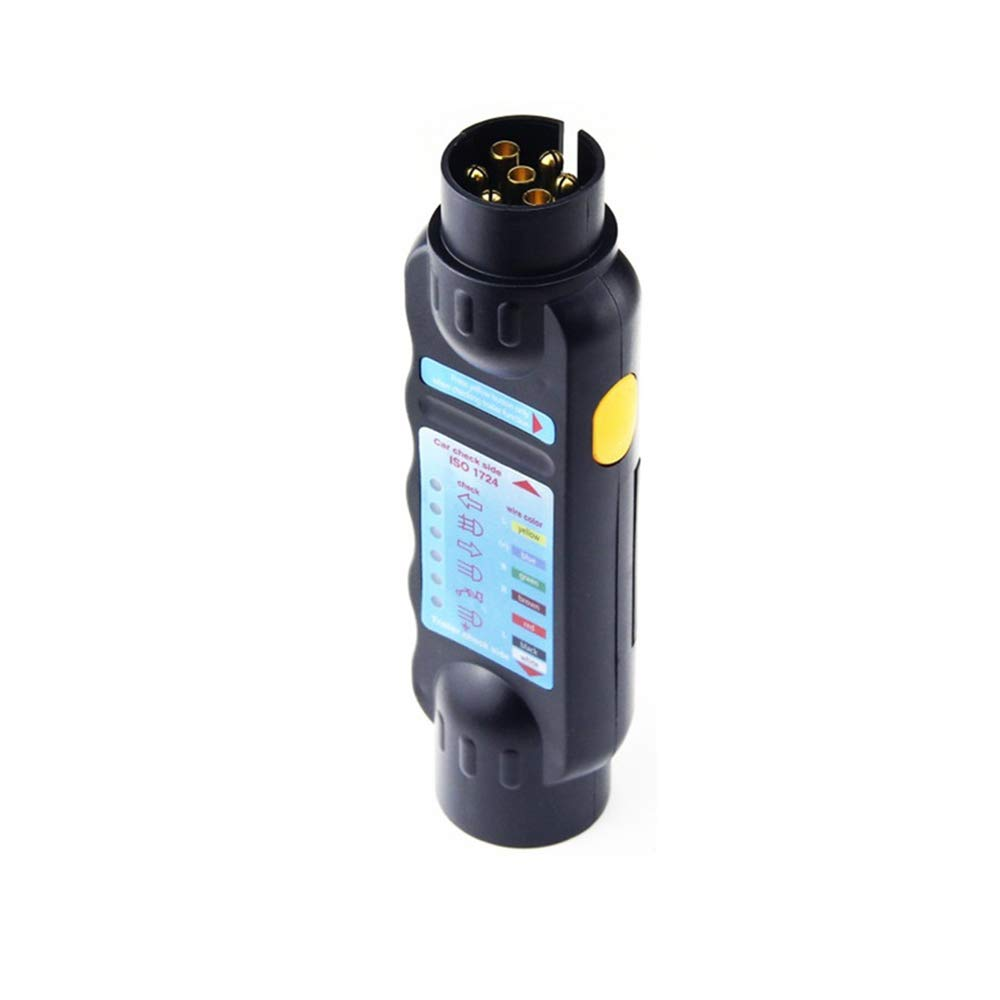 DAYOLY 12V Car Resistance 7-pin Plug and Socket Trailer Tester Connector Caravan Truck Vehicle Light Electrical Circuit Diagnostic Tool