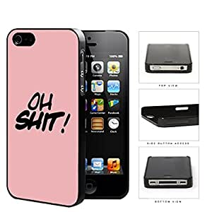 OH SHIT! Script Pink Hard Plastic Snap On Cell Phone Case Apple iPhone 4 4s