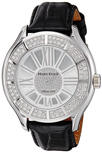 Marc Ecko Men's E15507G2 The Tiani Black Leather Strap Watch
