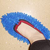 Services for You Multifunction Mop Shoe Cover Dusting Floor Cleaning Slipper Lazy Housekeeper(1 Pairs)