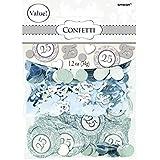 Elegant Decorative Confetti Silver‑25th Anniversary Party Decoration Supplies, 1.2 oz..