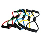 Figure 8 Toner Resistance Exercise PCS Useful Fitness Equipment Tube Workout Exercise Elastic Resistance Band For Yoga (Set of 5)