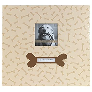 MBI by MCS Bold Fashion Collection 12-Inch by 12-Inch Page , Top Load  13.2 x 12.5 -Inch Scrapbook, Dog with Photo Opening